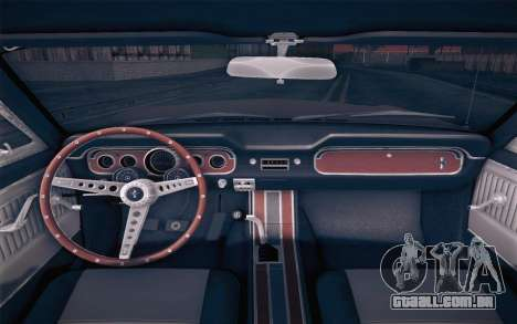 Ford Mustang GT 289 Hardtop Coupe 1965 para GTA San Andreas vista direita