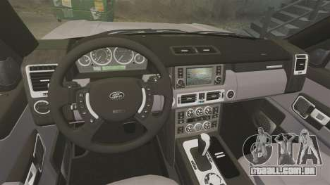 Range Rover Supercharged para GTA 4 vista interior