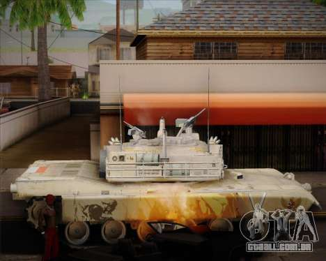 Abrams Tank Indonesia Edition para GTA San Andreas esquerda vista