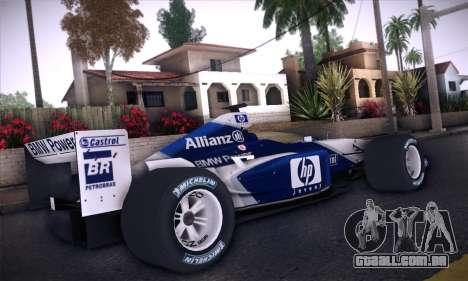 BMW Williams F1 para GTA San Andreas vista traseira