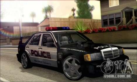Mercedes-Benz 190E Evolution Police para GTA San Andreas vista direita
