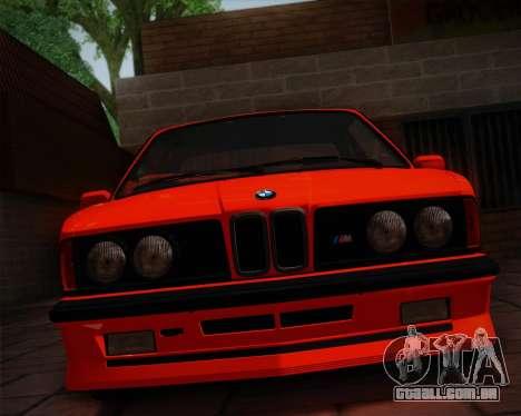 BMW E24 M635 1984 para vista lateral GTA San Andreas