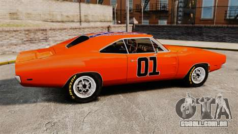 Dodge Charger 1969 General Lee v2.0 HD Vinyl para GTA 4 esquerda vista