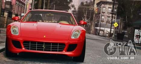 Ferrari 599 GTB Hamann 2006 para GTA 4 vista interior