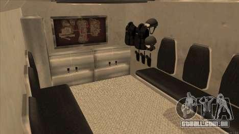 Enforcer HD from GTA 3 para GTA San Andreas vista interior