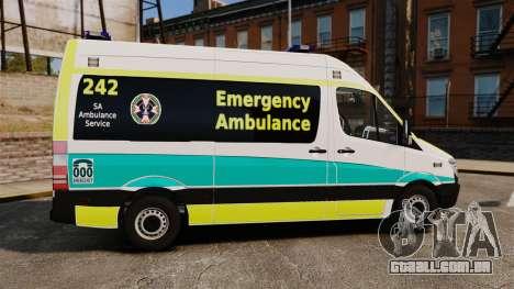 Mercedes-Benz Sprinter Australian Ambulance ELS para GTA 4 esquerda vista