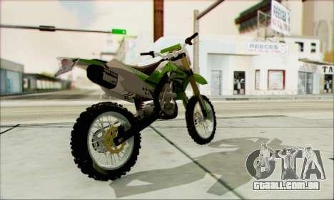 Kawasaki KLX 150 SE para GTA San Andreas esquerda vista