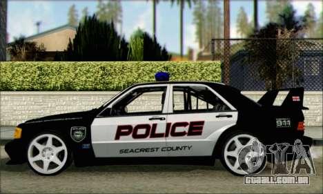 Mercedes-Benz 190E Evolution Police para GTA San Andreas esquerda vista
