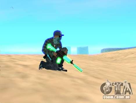 Rifa Gun Pack para GTA San Andreas terceira tela