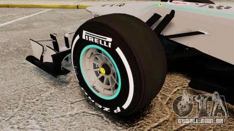 Mercedes AMG F1 W04 v5 para GTA 4 vista de volta