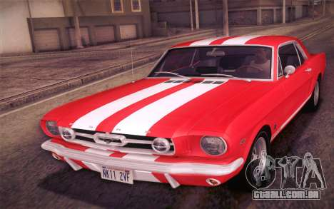 Ford Mustang GT 289 Hardtop Coupe 1965 para as rodas de GTA San Andreas