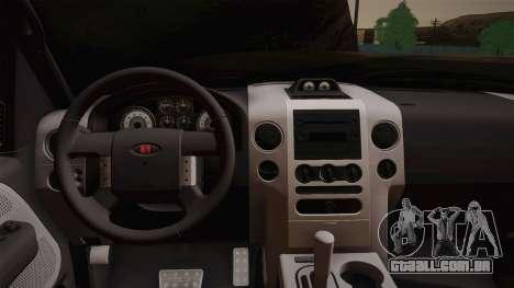 Saleen S331 Supercab 2008 para GTA San Andreas vista traseira