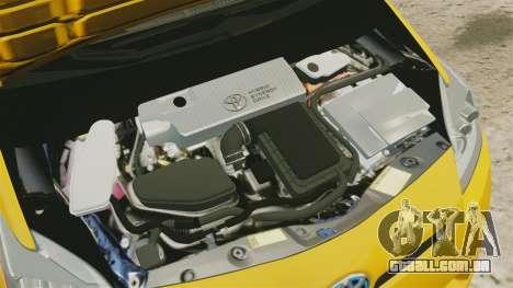 Toyota Prius 2011 Warsaw Taxi v3 para GTA 4 vista interior