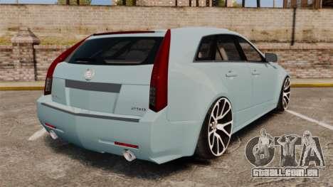 Cadillac CTS SW 2010 para GTA 4 traseira esquerda vista