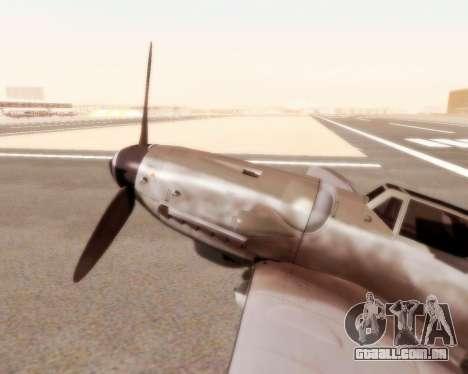 Bf-109 G10 para GTA San Andreas traseira esquerda vista
