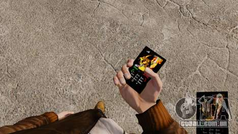 Tema para telefone fogo e chamas para GTA 4