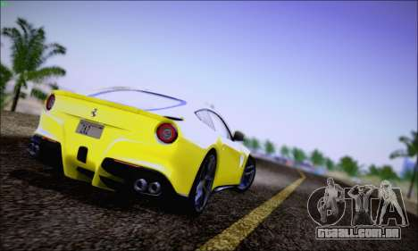 Ferrari F12 Berlinetta Horizon Wheels para GTA San Andreas traseira esquerda vista