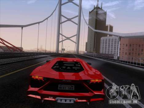 Lamborghini Aventador LP720-4 2013 para GTA San Andreas vista interior