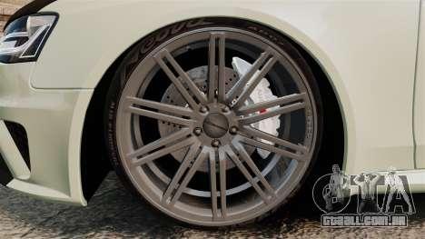 Audi RS4 Avant VVS-CV4 2013 para GTA 4 vista de volta