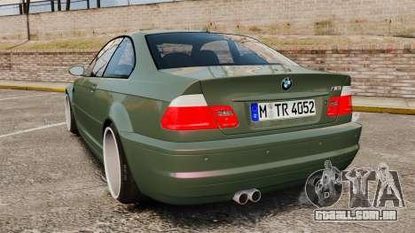 BMW M3 E46 para GTA 4 traseira esquerda vista