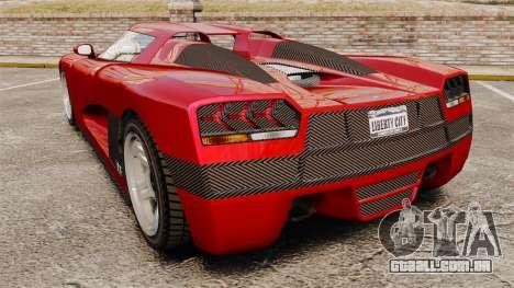GTA V Overflod Entity XF para GTA 4 traseira esquerda vista
