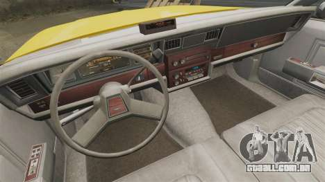 Chevrolet Caprice 1987 L.C.C. Taxi para GTA 4 vista interior