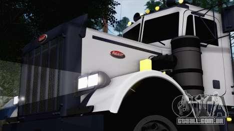 Peterbilt 379 Papa Clyde para GTA San Andreas traseira esquerda vista