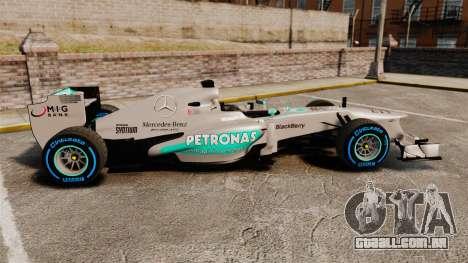 Mercedes AMG F1 W04 v2 para GTA 4 esquerda vista