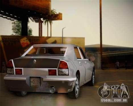 GTA III Kuruma para GTA San Andreas traseira esquerda vista