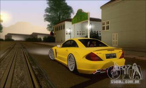 Mercedes-Benz SL65 AMG GB para GTA San Andreas vista traseira