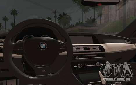 BMW M5 F10 v1 para GTA San Andreas vista direita