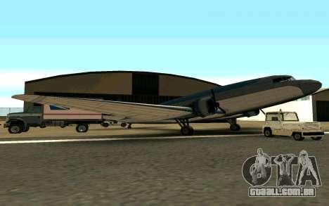 Um avião dos Estados Unidos para GTA San Andreas esquerda vista