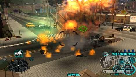 C-HUD Candy Project para GTA San Andreas por diante tela