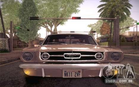 Ford Mustang GT 289 Hardtop Coupe 1965 para GTA San Andreas vista superior