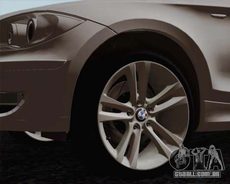 BMW 120i para GTA San Andreas esquerda vista