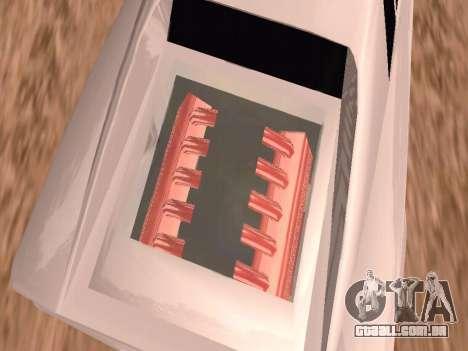 Sheetah Restyle para GTA San Andreas vista inferior