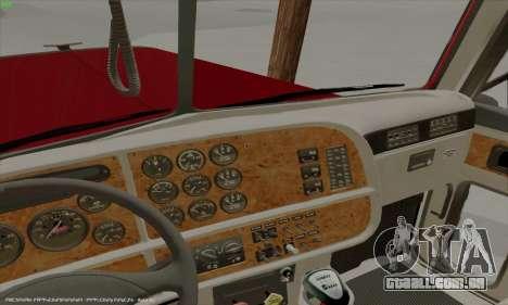 Peterbilt 379 Dump Truck para GTA San Andreas vista interior