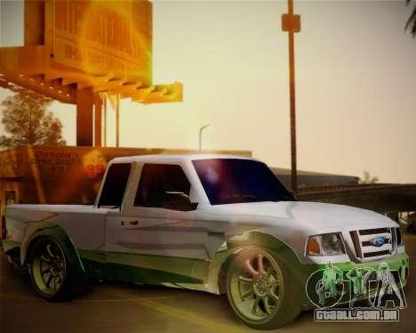 Ford Ranger 2005 para GTA San Andreas vista interior