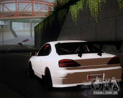 Nissan Silvia S15 JDM para GTA San Andreas vista interior