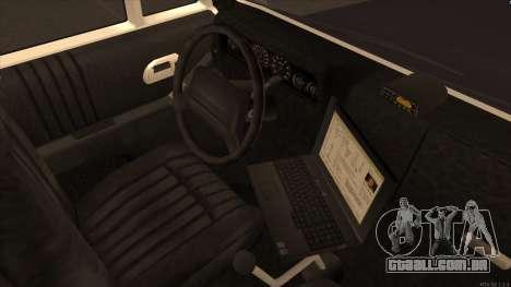 Enforcer HD from GTA 3 para GTA San Andreas vista traseira