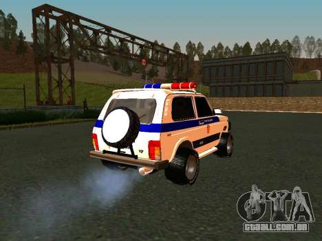 VAZ 212140 polícia para GTA San Andreas vista interior