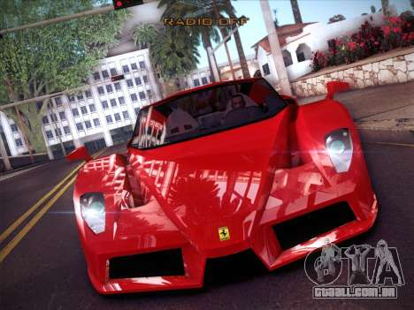 Ferrari Enzo 2003 para GTA San Andreas vista interior