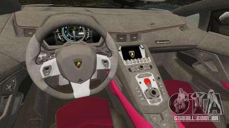 Lamborghini Aventador LP700-4 LE-C 2014 para GTA 4 vista interior