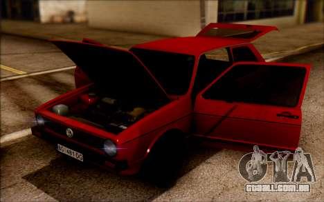 Volkswagen Golf Mk1 TAS para GTA San Andreas traseira esquerda vista