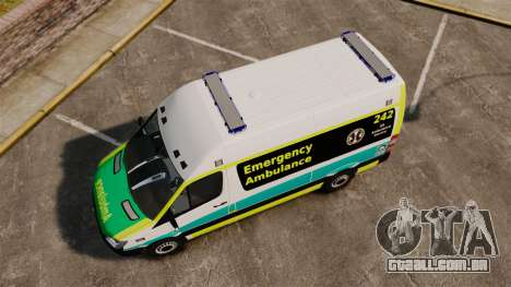 Mercedes-Benz Sprinter Australian Ambulance ELS para GTA 4 vista direita
