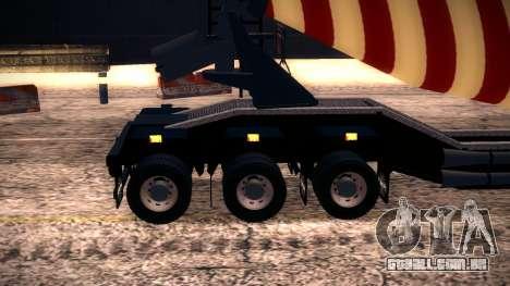 Cement Mixer para GTA San Andreas vista traseira