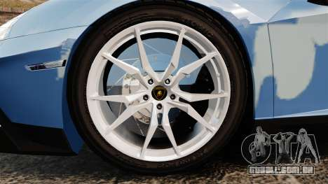 Lamborghini Aventador LP700-4 LE-C 2014 para GTA 4 vista de volta