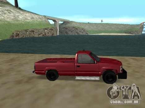 Chevrolet Silverado ATTF para GTA San Andreas esquerda vista