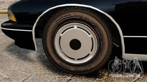 Chevrolet Caprice Police 1991 v2.0 LCPD para GTA 4 vista de volta