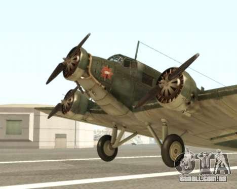 Junkers Ju-52 para GTA San Andreas